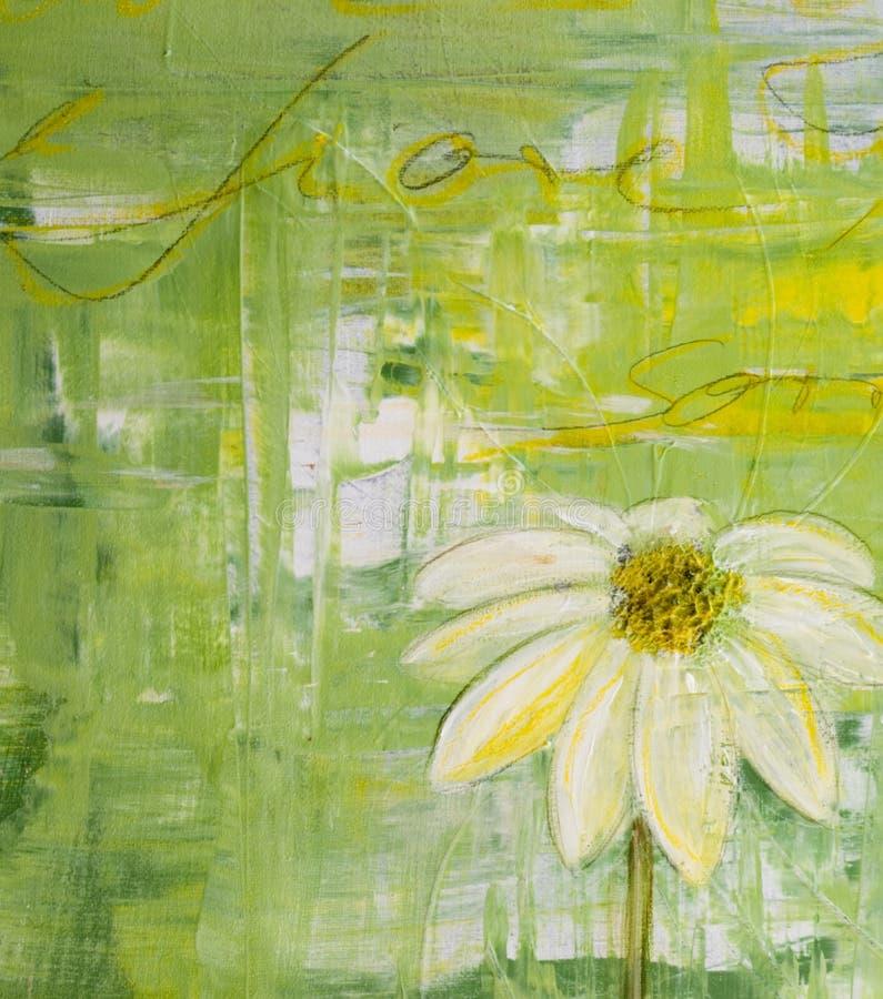 kwiaty pomalowane daisy royalty ilustracja
