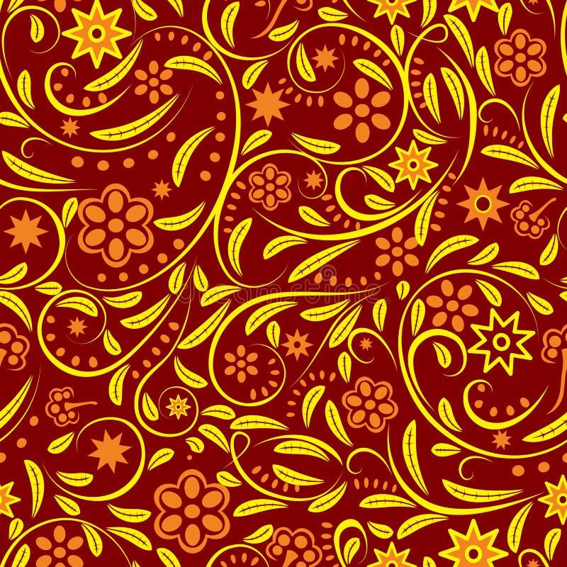 kwiaty pomarańczy bezszwowej royalty ilustracja