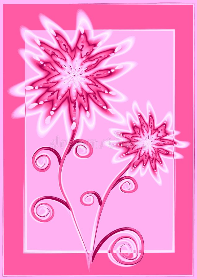 kwiaty różowią unikalny white ilustracja wektor