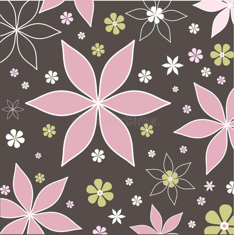 kwiaty retro ilustracja wektor