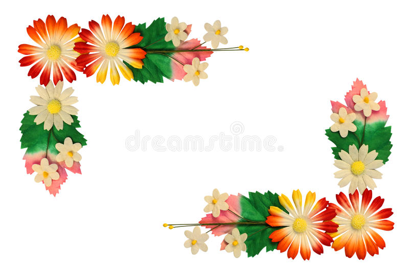 Kwiaty robić kolorowy papier obrazy stock