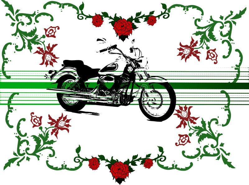 kwiaty rowerów ilustracji