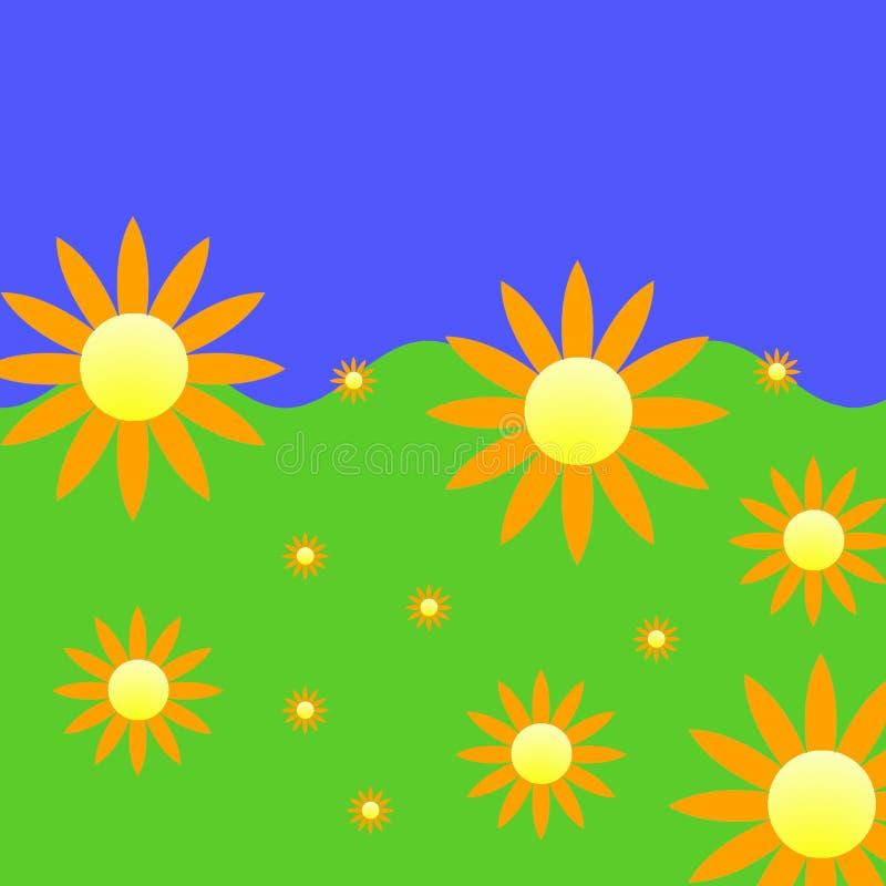 kwiaty tło royalty ilustracja