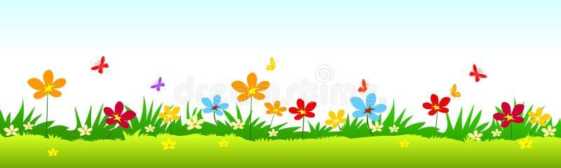 kwiaty trawy ilustracji wektora ilustracji