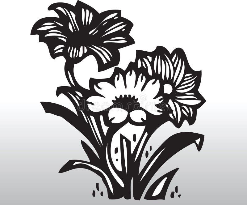 kwiaty wektora royalty ilustracja