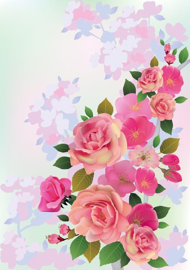 Kwiaty wiosna bukiet royalty ilustracja