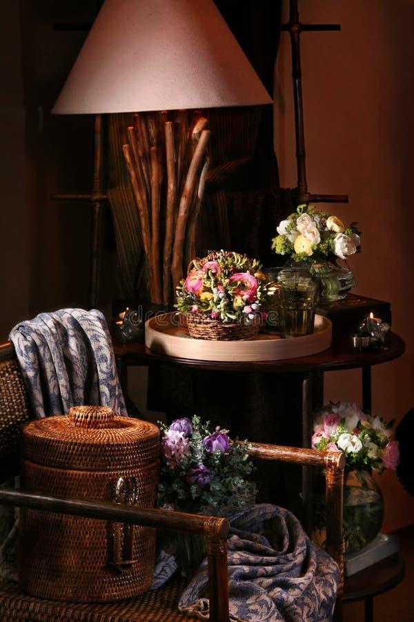 kwiaty, wnętrze zdjęcie stock