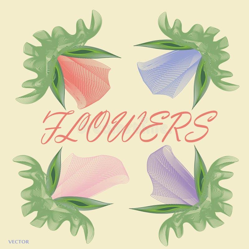 Kwiaty, wzór, pastel, piękno, czułość zdjęcie royalty free