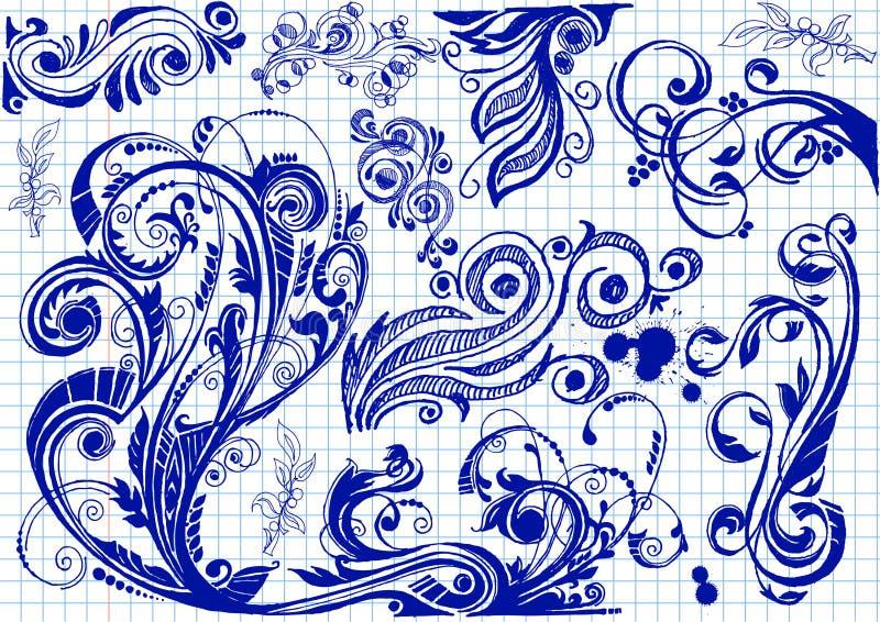 Kwieciści Doodles royalty ilustracja