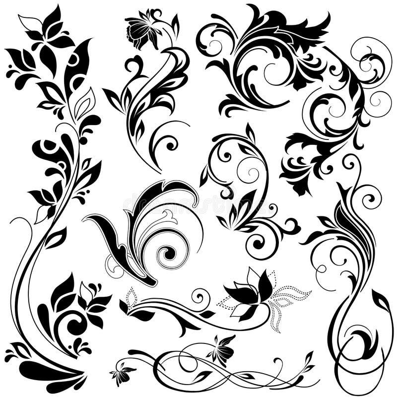 kwieciści projektów elementy royalty ilustracja