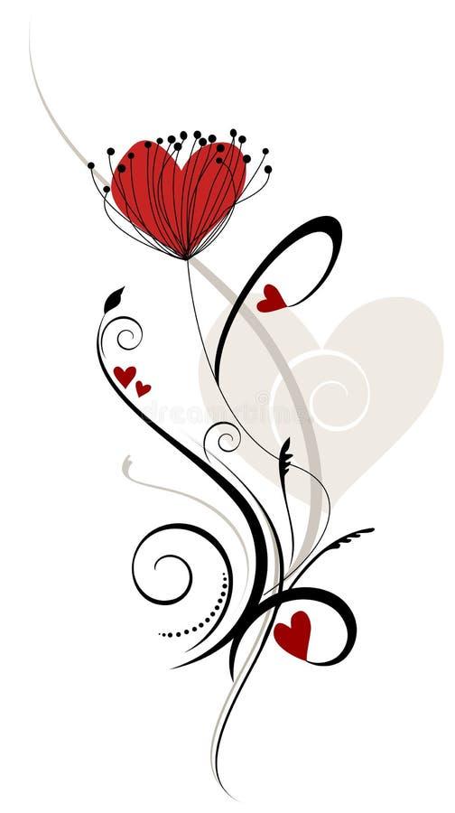 kwieciści składów serca ilustracji