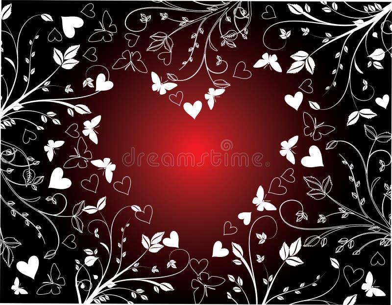 kwieciści tło valentines ilustracji