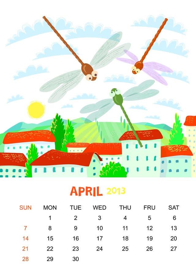 Kwiecień ilustracja wektor