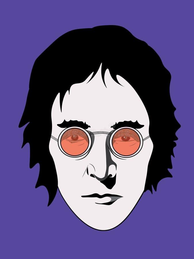 KWIECIEŃ 6 2018 Ilustracja John Lennon, eps10, redakcyjny use tylko ilustracja wektor