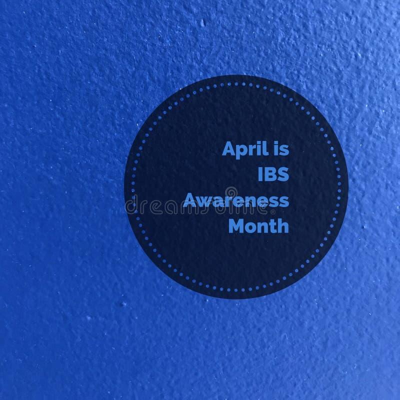 Kwiecień jest IBS świadomości miesiącem obraz royalty free