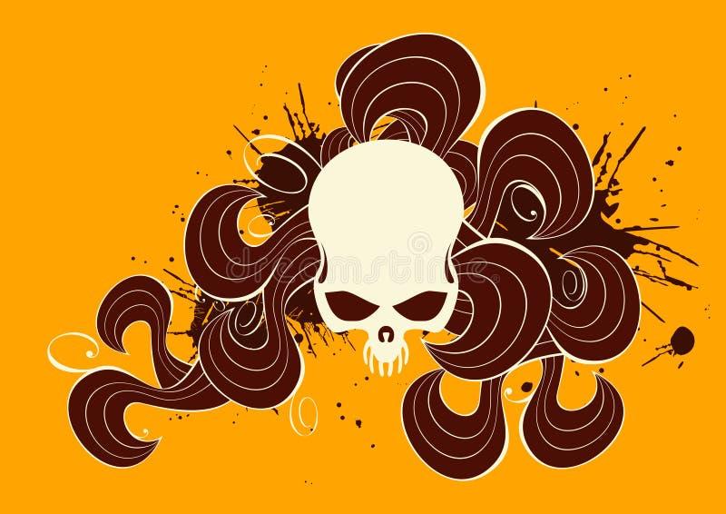 kwiecista czaszka ilustracji