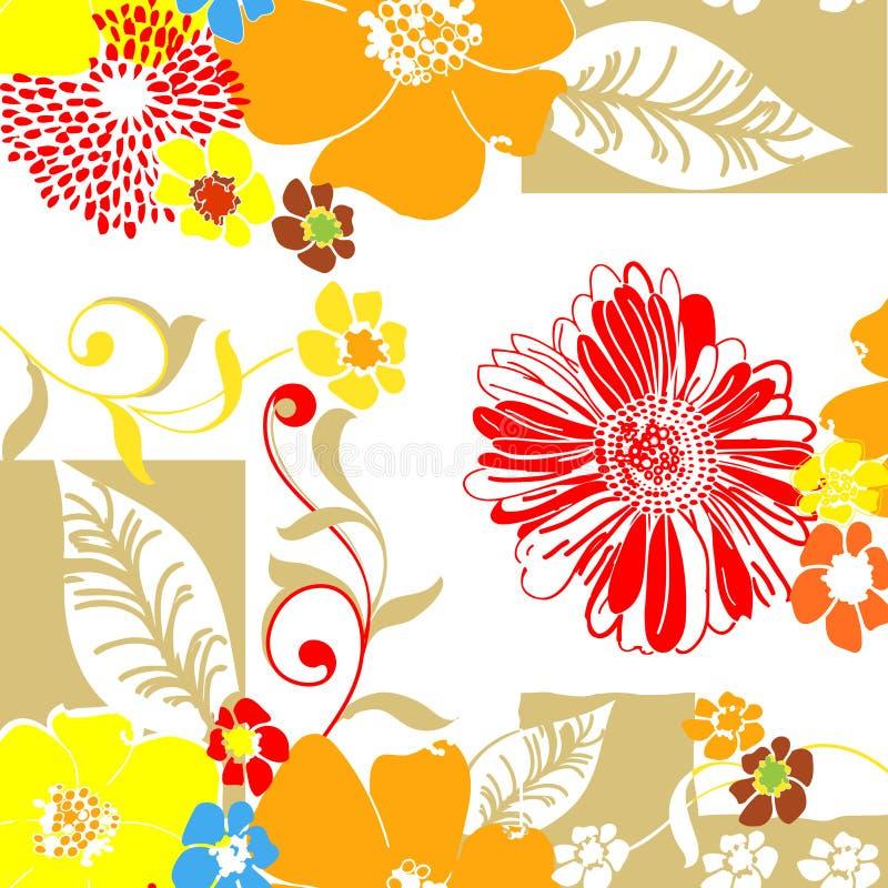 kwiecista deseniowa tkanina royalty ilustracja
