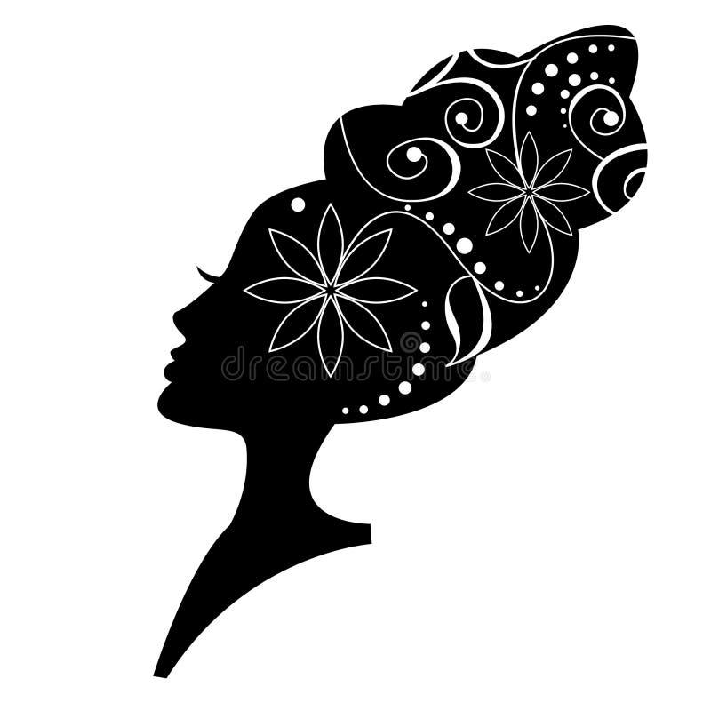 kwiecista fryzura ilustracji
