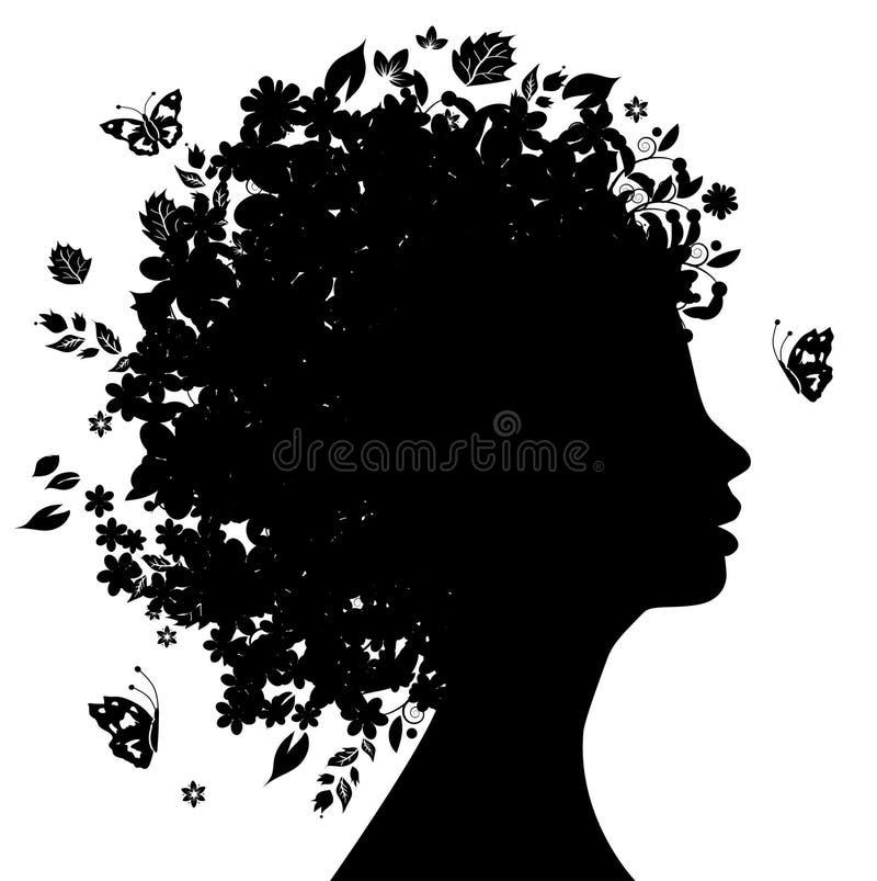 kwiecista fryzura ilustracja wektor