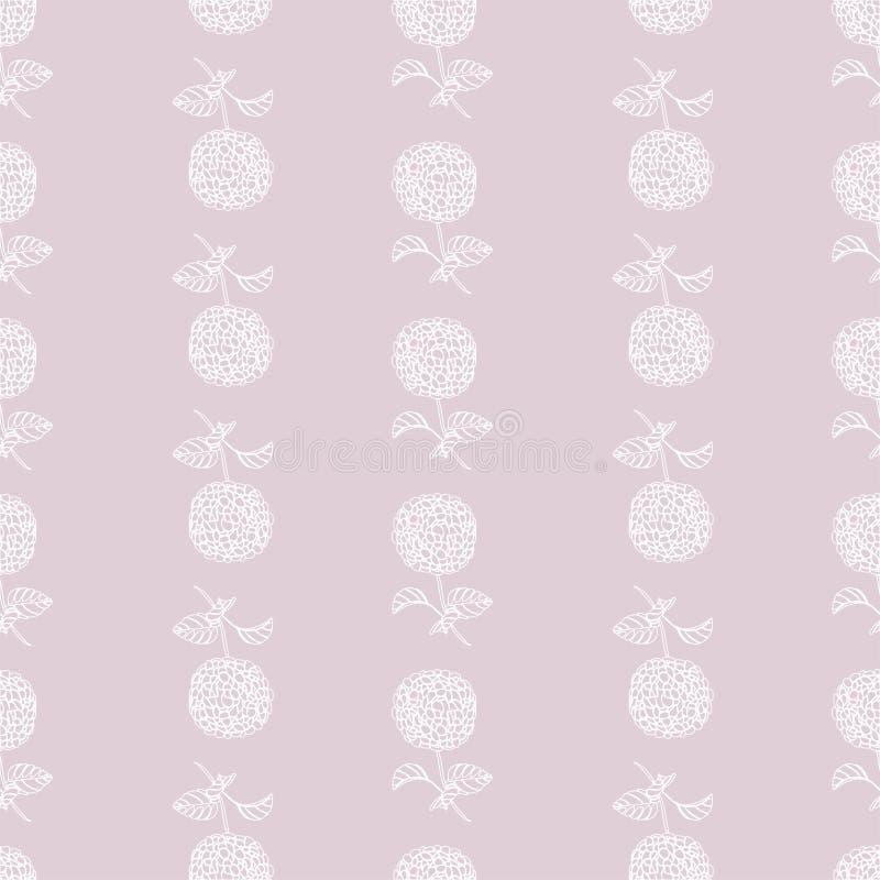Kwiecista piękna bezszwowa hortensja kwitnie dla mody ilustracji
