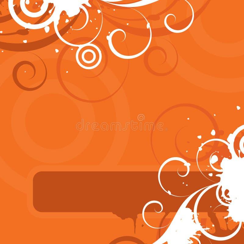 kwiecista projekt pomarańcze royalty ilustracja