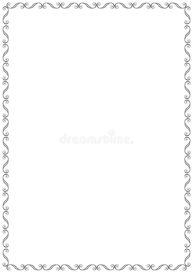 kwiecista rama royalty ilustracja
