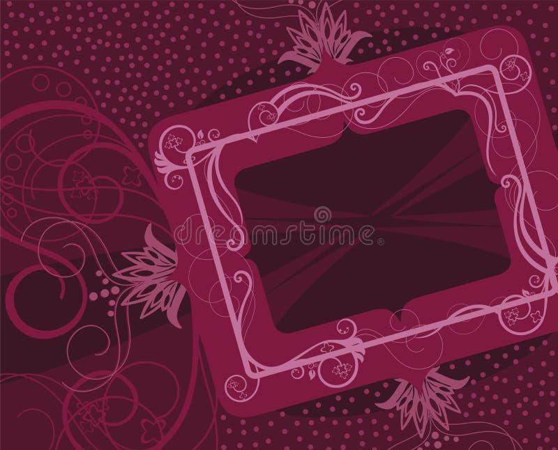 kwiecista ramowa czerwień ilustracja wektor