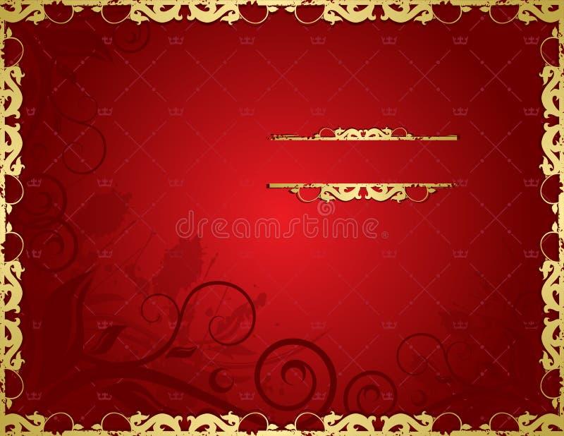 kwiecista tło czerwień royalty ilustracja