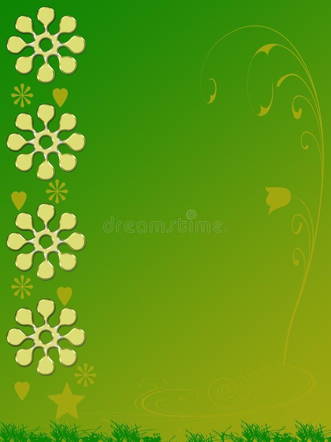 kwiecista tło zieleń royalty ilustracja