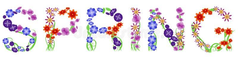 kwiecista wiosna ilustracja wektor