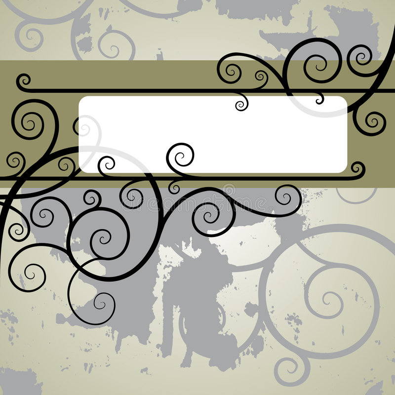 kwieciste linii royalty ilustracja