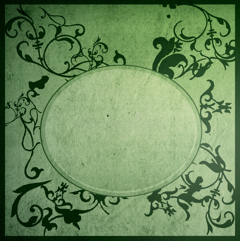 kwieciste ramowe stare papieru stylu tekstury ilustracja wektor