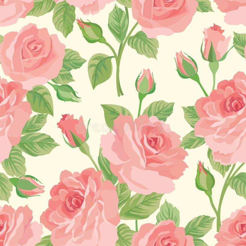 Kwiecistego bukieta bezszwowy wzór kwiat tła rose ilustracja wektor