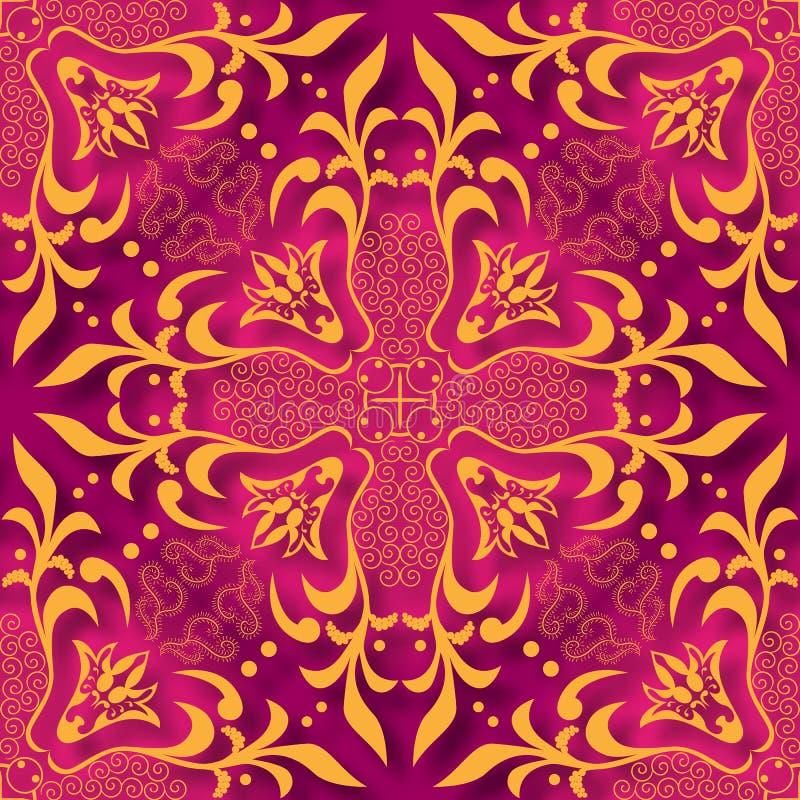 Kwiecistego 3d papieru cięcia stylu Bezszwowy Deseniowy tło Dla zaproszenia grępluje dekorację również zwrócić corel ilustracji w royalty ilustracja