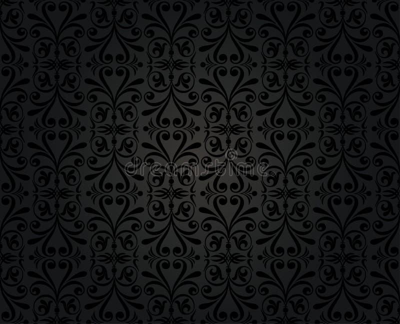 Kwiecistego dekoracyjnego rocznika t?a bezszwowy czer? zdjęcie royalty free