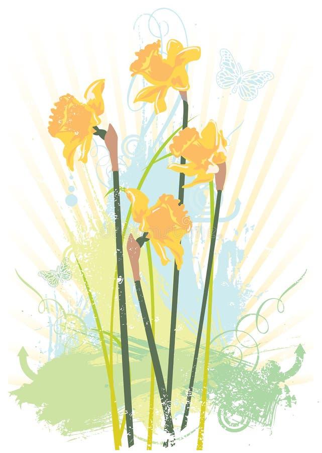 kwiecistego grunge spring ilustracyjny wektora ilustracji
