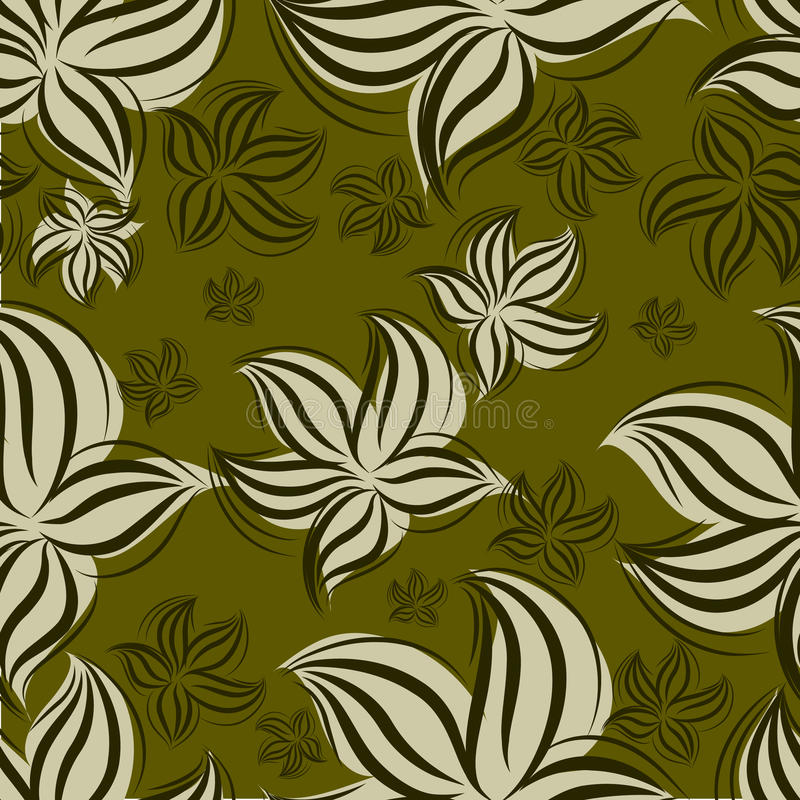 kwiecistego lillies wzoru bezszwowy rocznik ilustracja wektor