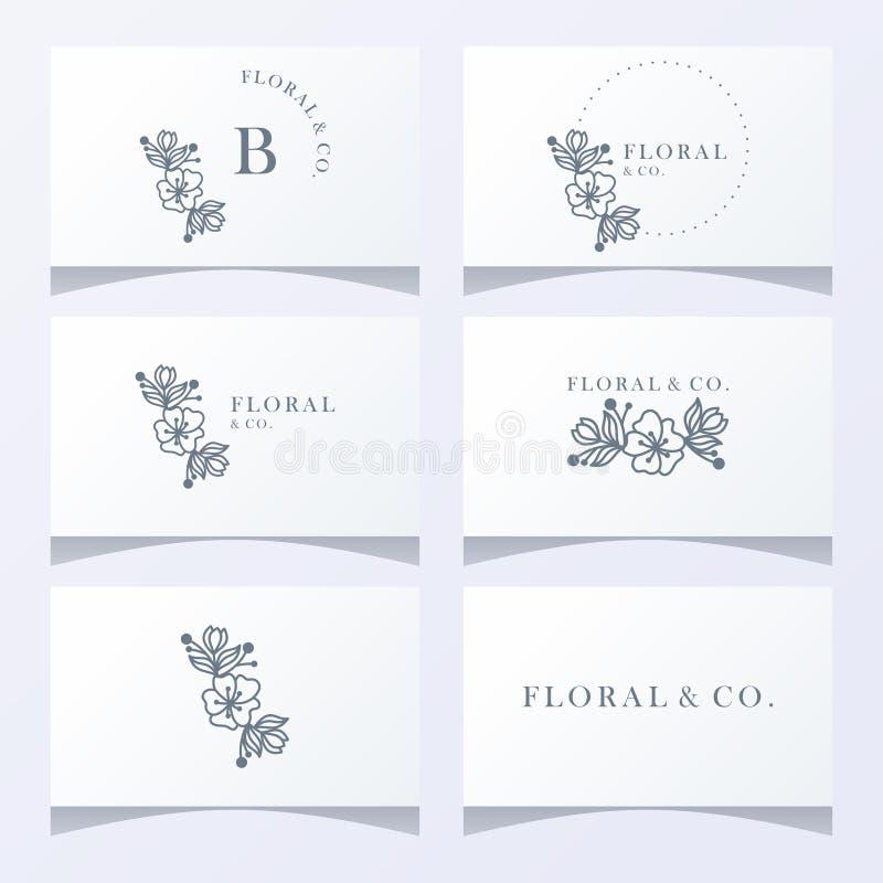 Kwiecistego ornamentu logo gotowy używać ilustracji