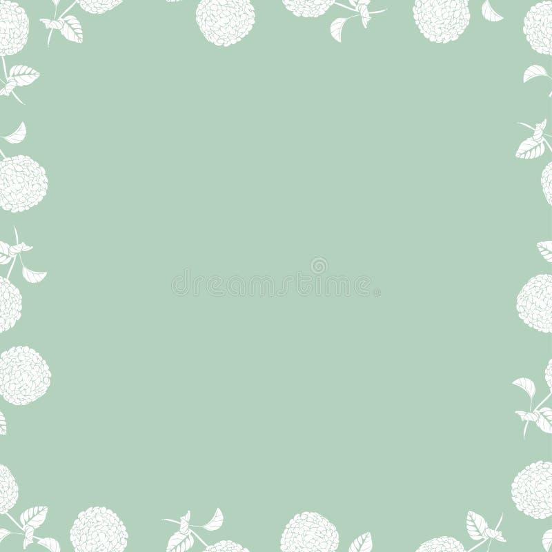 Kwiecistego rocznika hortensji piękni bezszwowi kwiaty z prochowym kolorem ilustracja wektor
