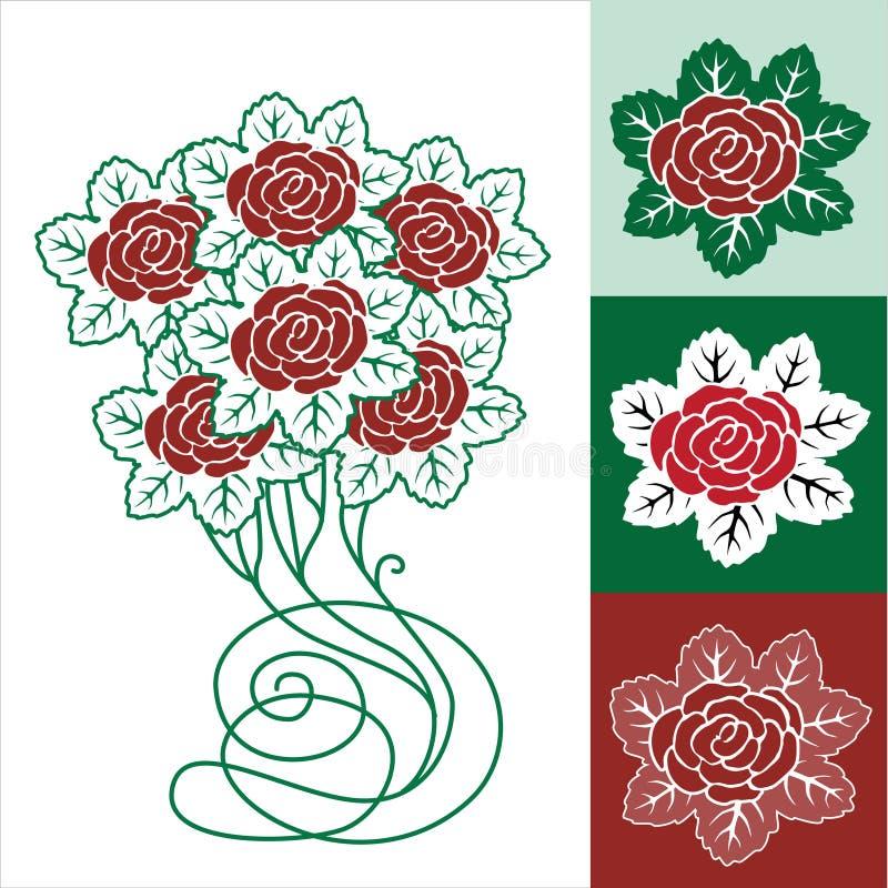 kwiecistej ramy różana wiosna ilustracja wektor