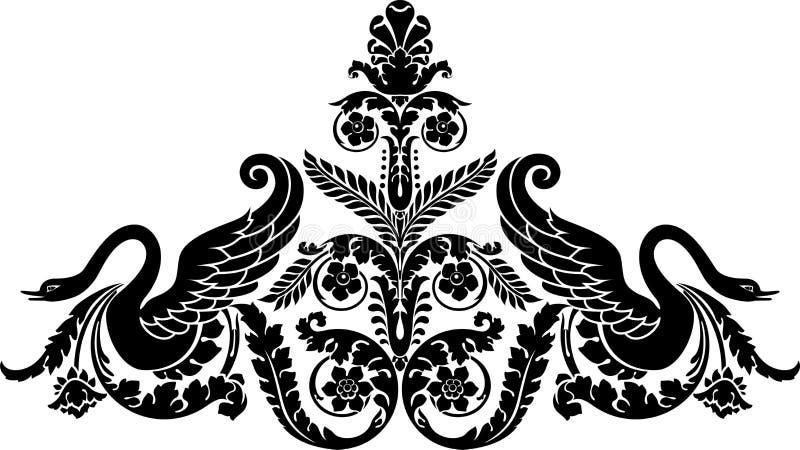 kwiecisty łabędź royalty ilustracja