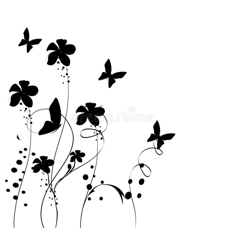 kwiecisty abstarct tło ilustracji