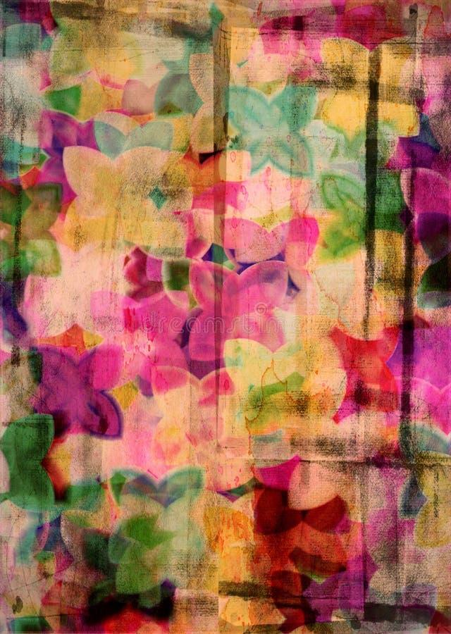 kwiecisty abstrakcjonistyczny tło obrazy stock