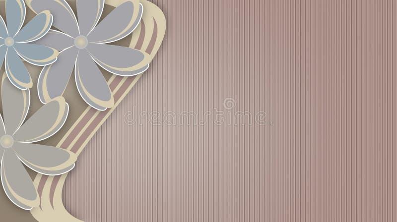 Kwiecisty abstrakcjonistyczny tło z dużymi kwiatami ilustracji