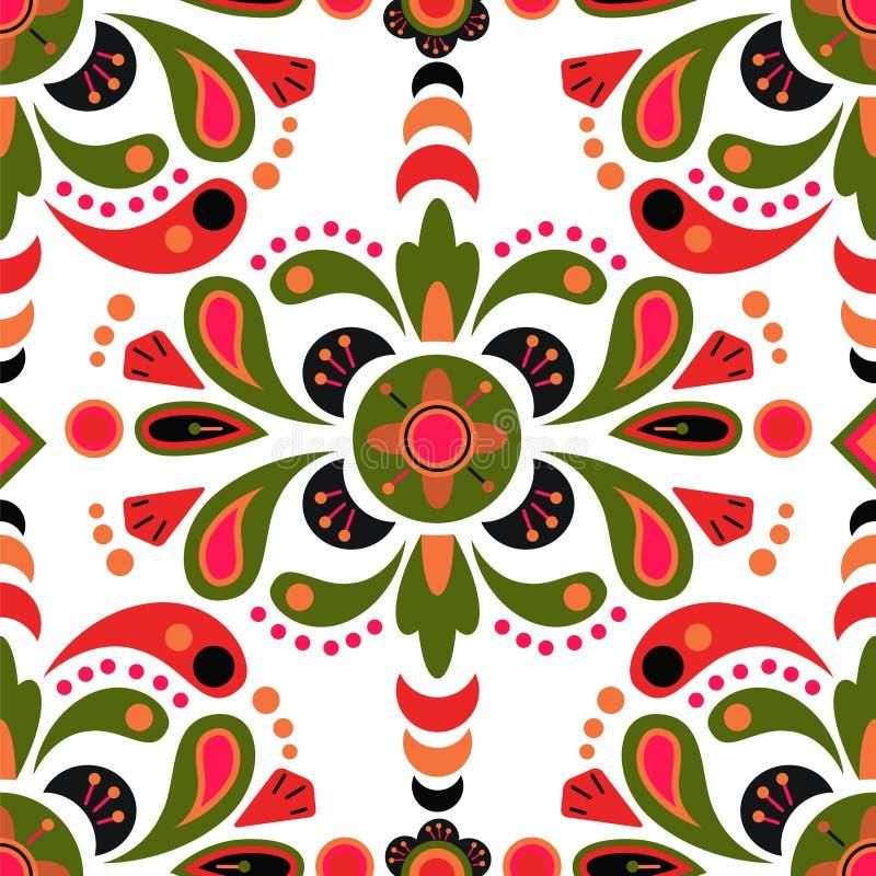 Kwiecisty adamaszkowy bezszwowy deseniowy tło ilustracji