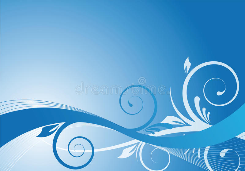 kwiecisty błękitny projekt royalty ilustracja