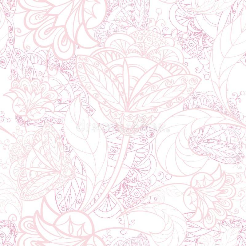 Kwiecisty bezszwowy tło. Abstrakcjonistycznego kwiatu geometryczna Bezszwowa tekstura ilustracja wektor