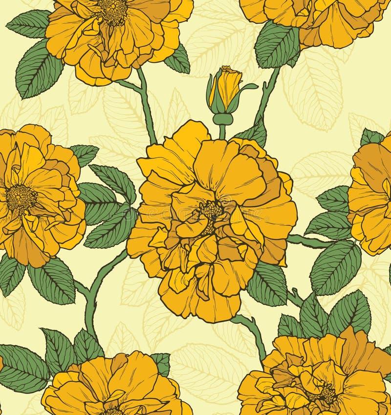 Kwiecisty bezszwowy wzór ilustracja wektor