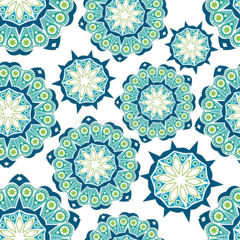 Kwiecisty bezszwowy wzór z kwiatami ilustracja wektor
