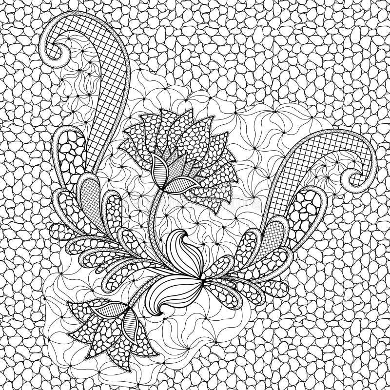 Kwiecisty bezszwowy wzór z otoczaka tłem royalty ilustracja